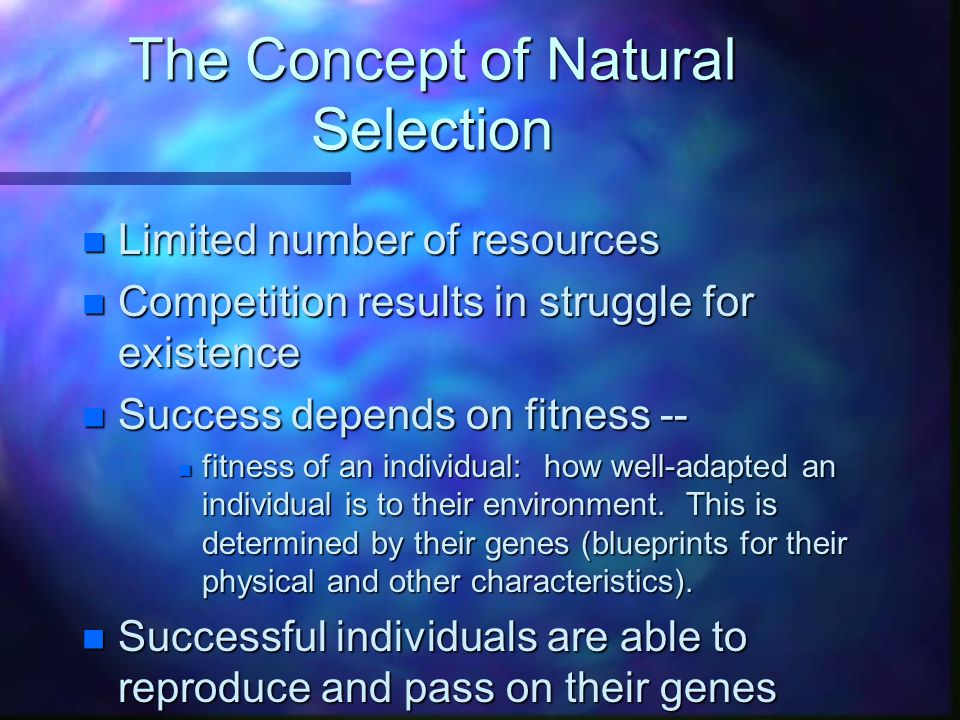 The Concept of Natural Selection