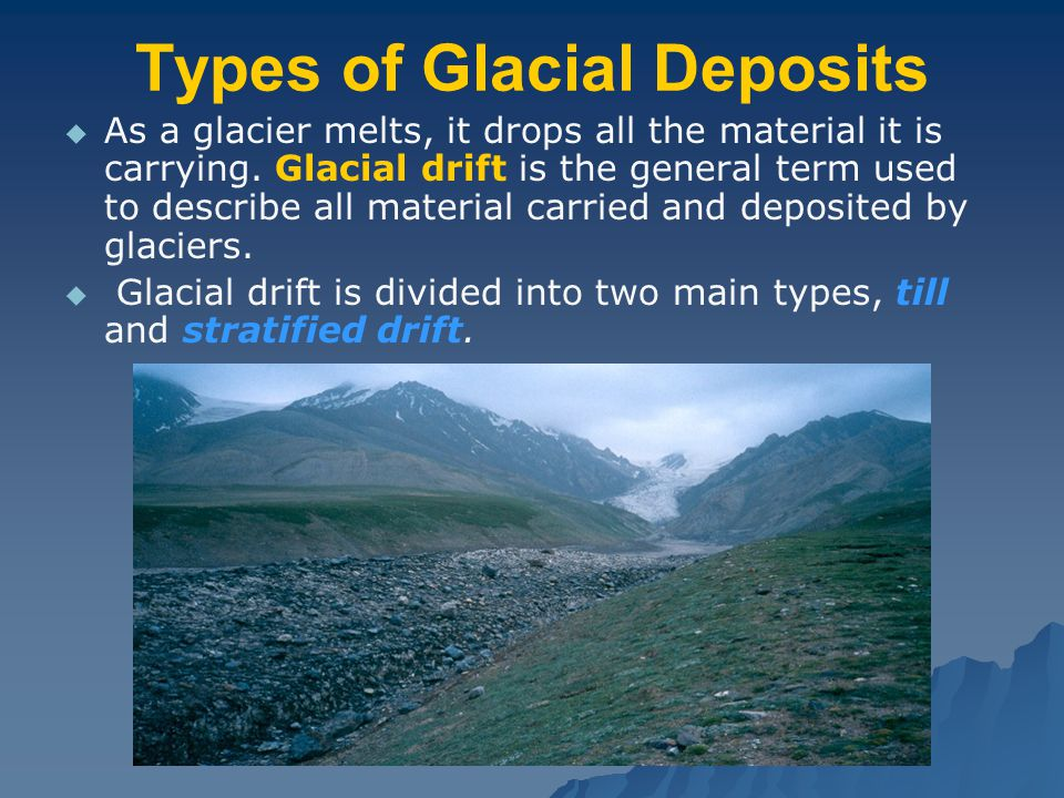 Types of Glacial Deposits