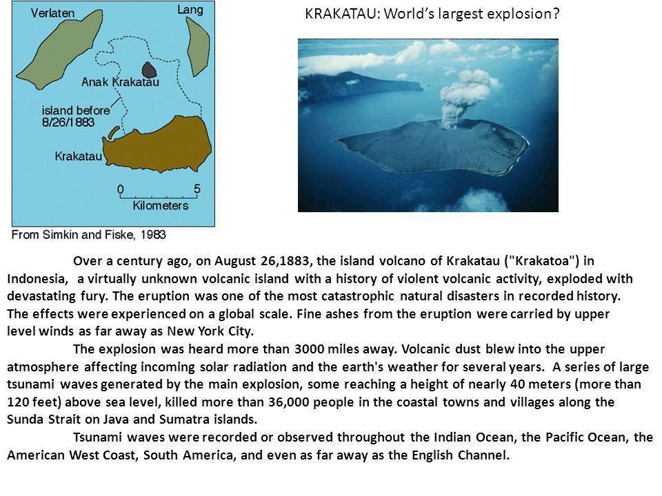 KRAKATAU: World's largest explosion