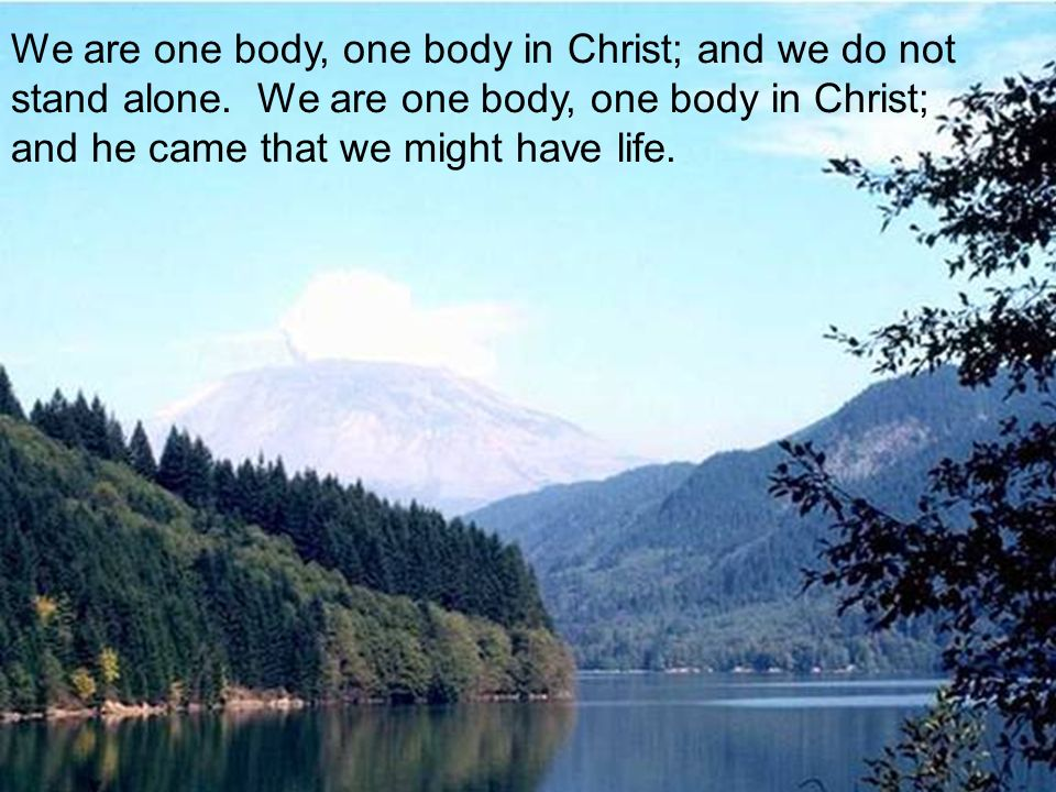 We are one body, one body in Christ; and we do not