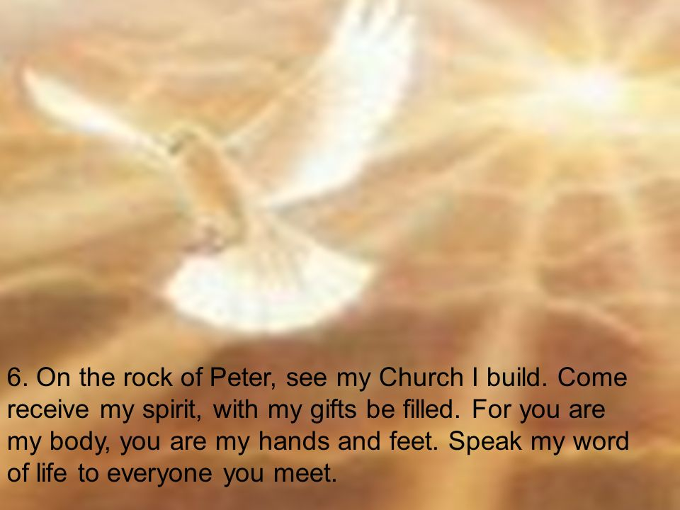 6. On the rock of Peter, see my Church I build