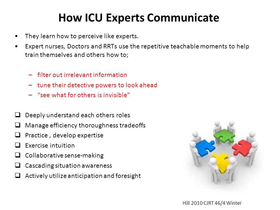 How ICU Experts Communicate