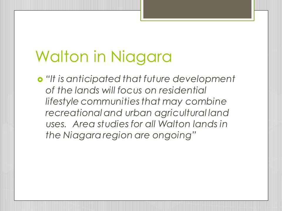 Walton in Niagara