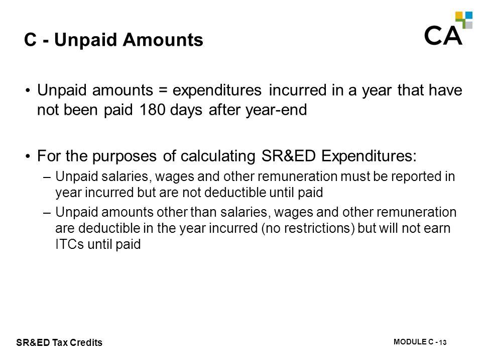 C – Prepaid Expenditures