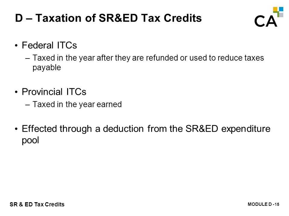 D – Recapture of Investment Tax Credits