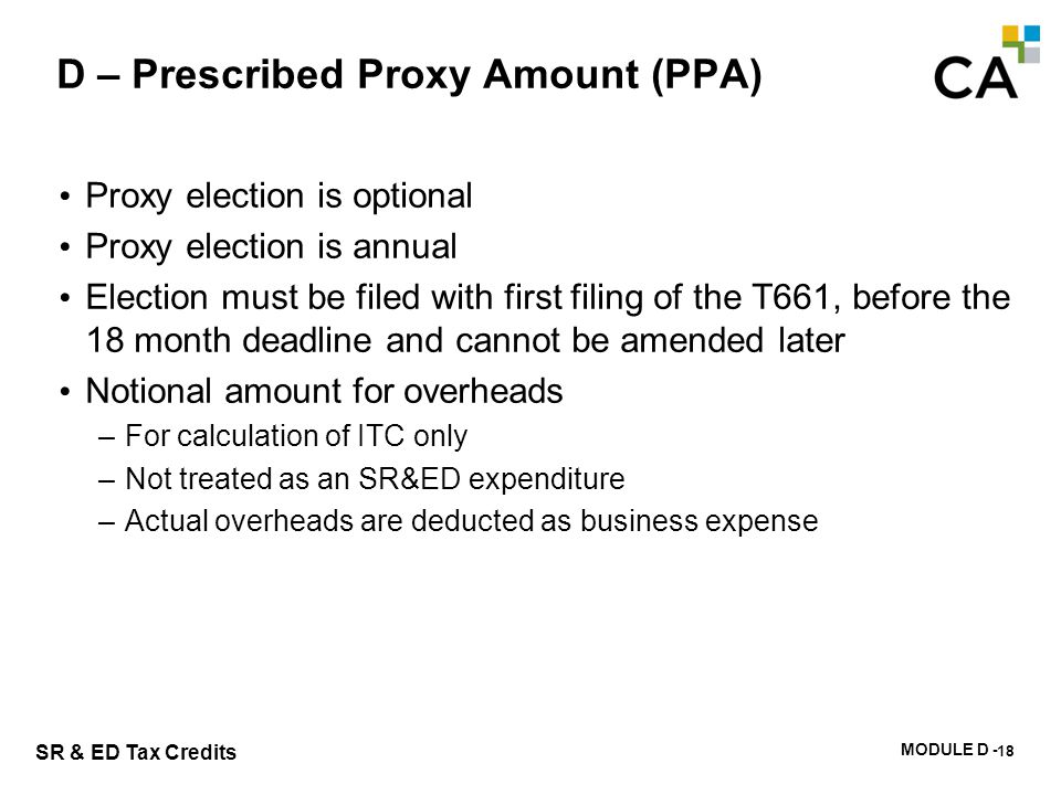 D – Prescribed Proxy Amount Salary Base