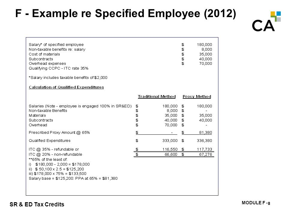F - Example re Specified Employee (2013)