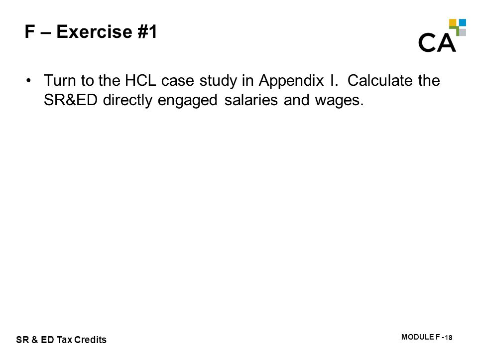 F – Exercise #2 Are there any specified employees of HCL