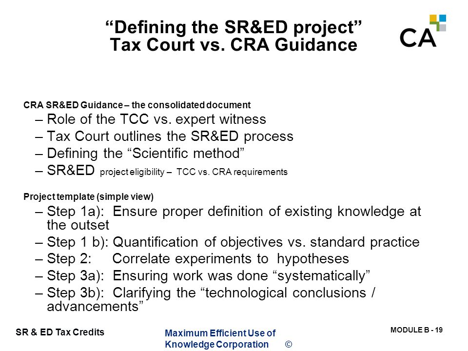CRA SR&ED Guidance – the consolidated document