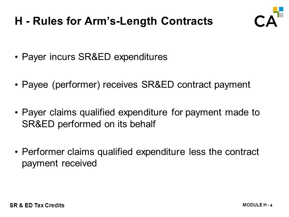 H - Arm's-length Contract Payments - Example