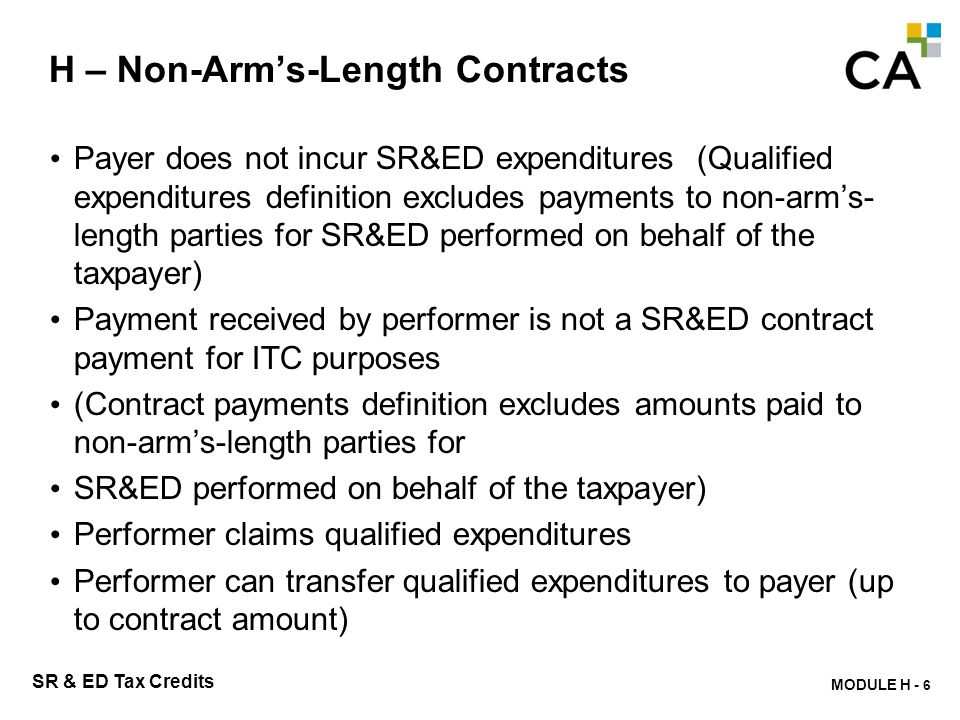 H - Non-Arm's-Length Contracting