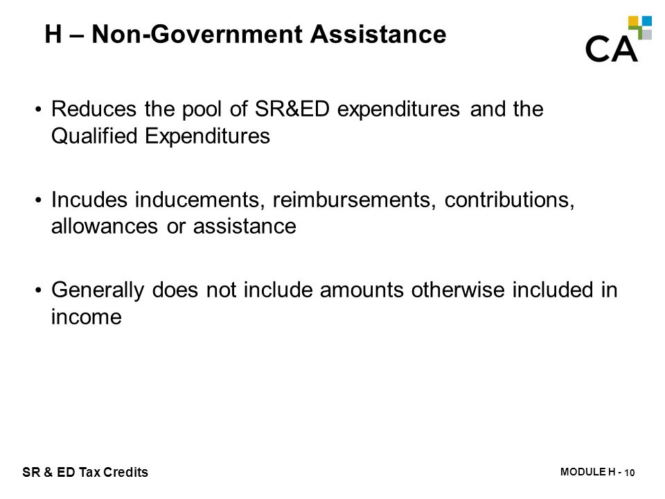 H – Indicators of Government Assistance