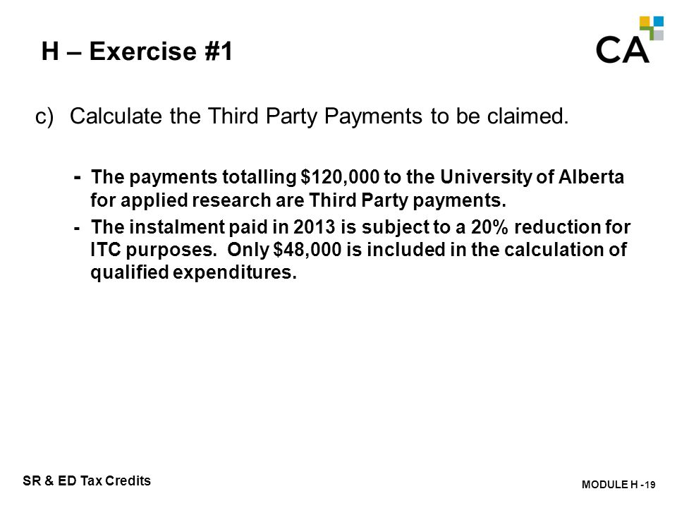 H – Exercise #2 What information regarding contract payments is required on Form T661