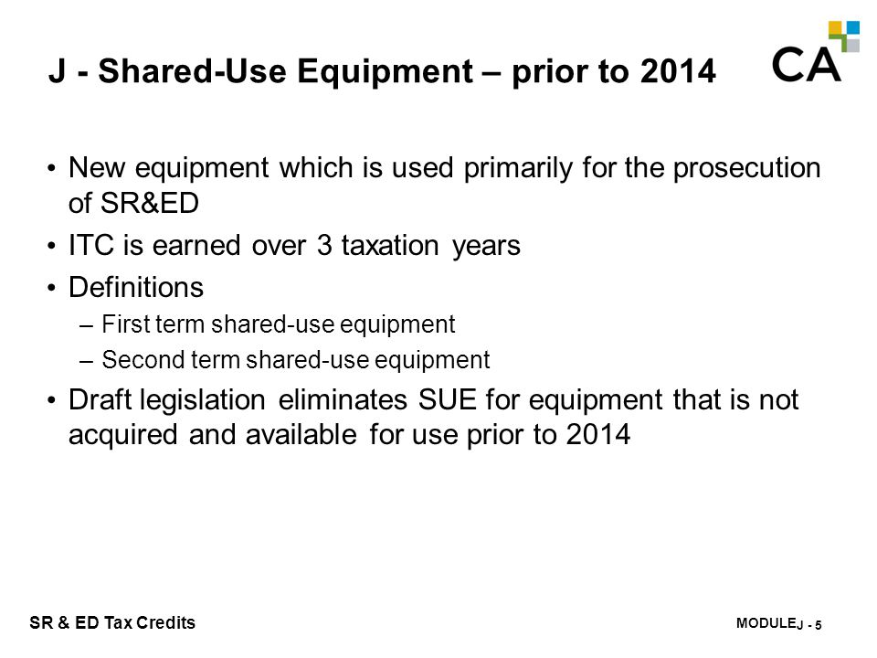 J - Shared-Use Equipment – Exclusions