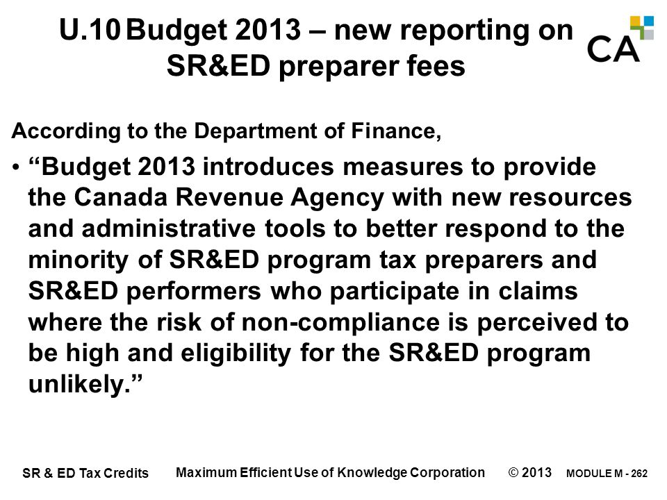 New reporting on SR&ED preparer fees – starts Jan 1, 2014