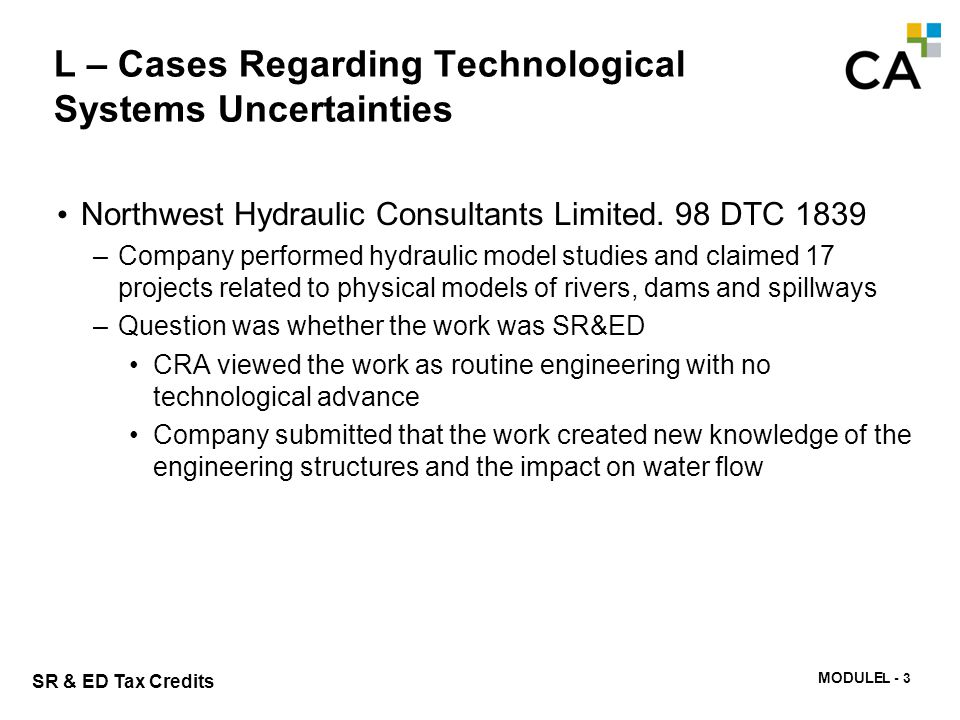 L – Cases Regarding Technological Systems Uncertainties