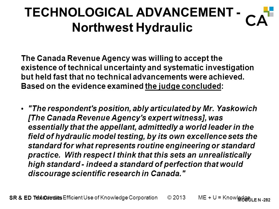 TECHNOLOGICAL ADVANCEMENT - Northwest Hydraulic