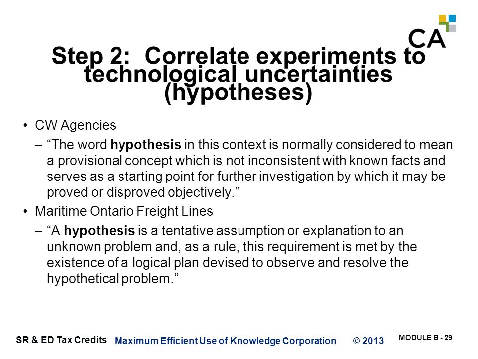 Identifying key variables within hypotheses