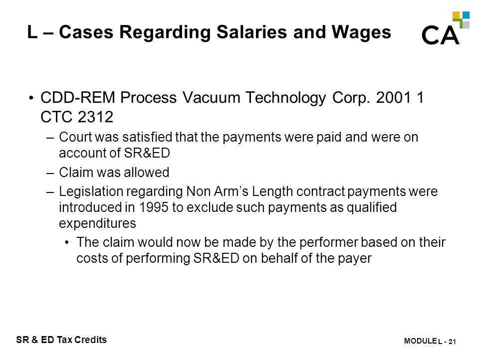 L – Cases Regarding Salaries and Wages