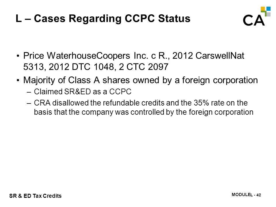CCPC status with > 50% foreign shareholders – Bagtech (PWC)