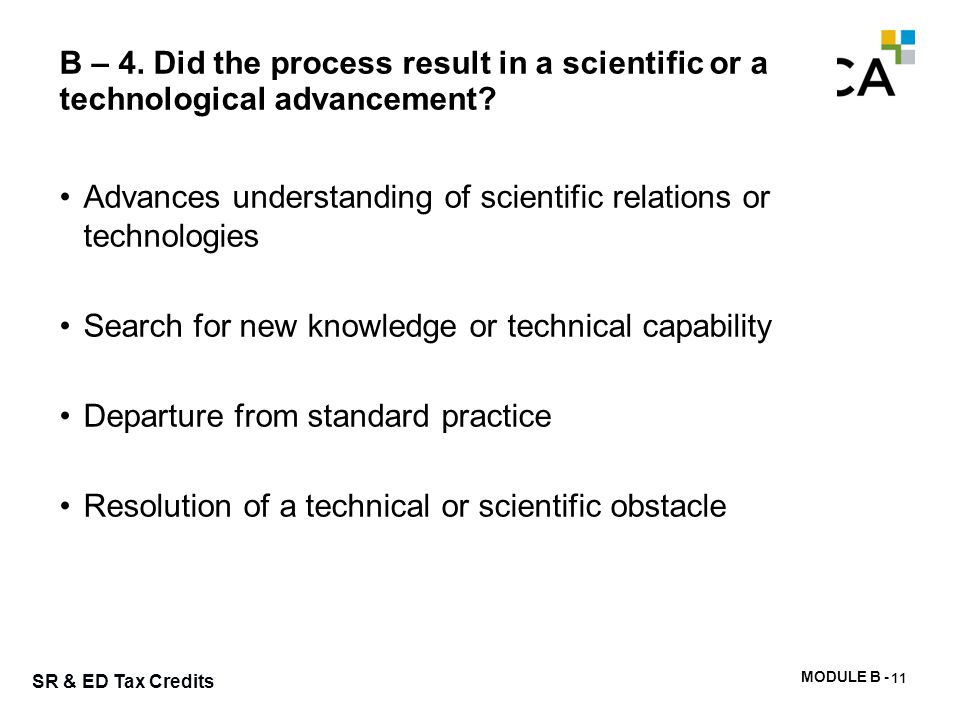 Step 3b): Clarifying technological conclusions / advancements