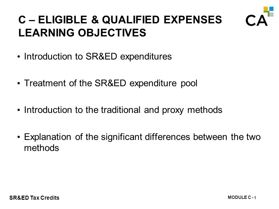 C - SR&ED Expenditures & Expenditure Pool