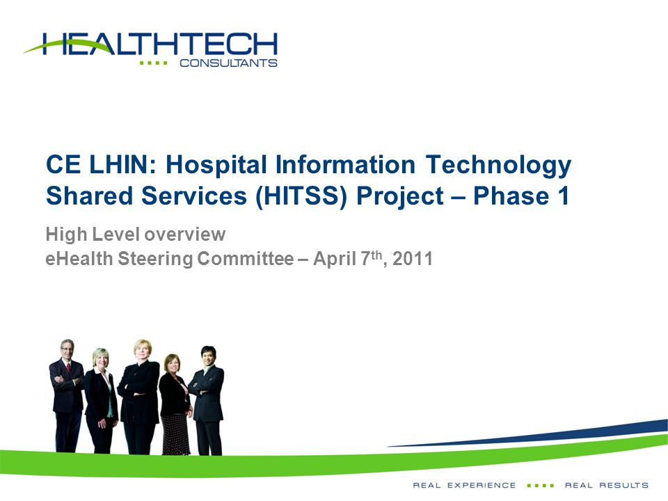 High Level overview eHealth Steering Committee – April 7th, 2011