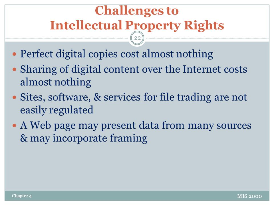 Challenges to Intellectual Property Rights