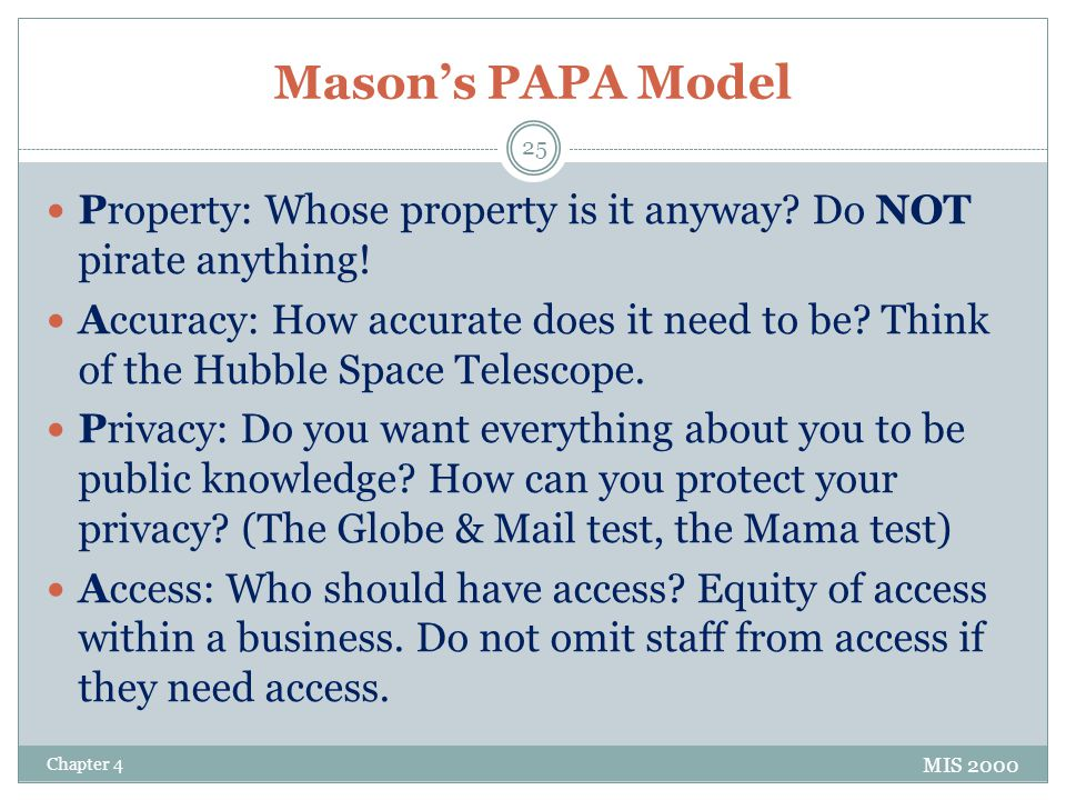 Mason's PAPA Model Property: Whose property is it anyway Do NOT pirate anything!