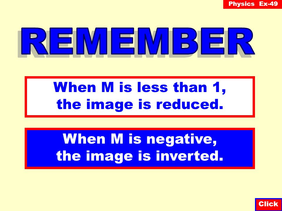 When M is less than 1, the image is reduced.
