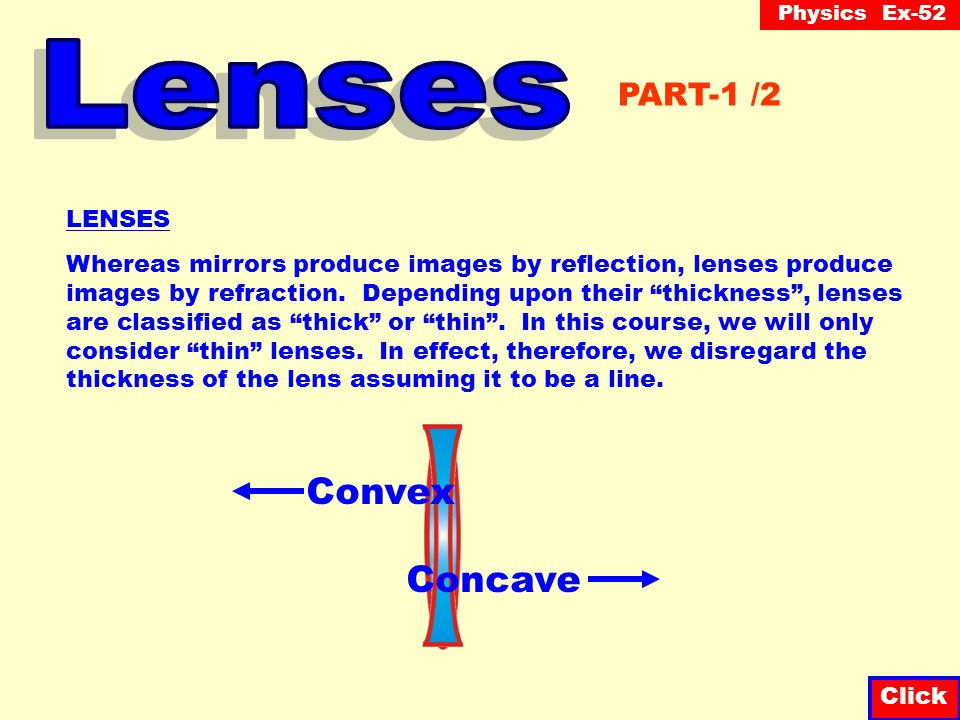 Lenses Convex Concave PART-1 /2 LENSES