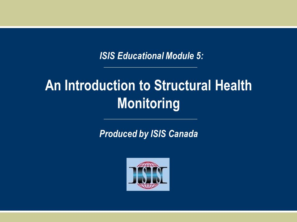 An Introduction to Structural Health Monitoring