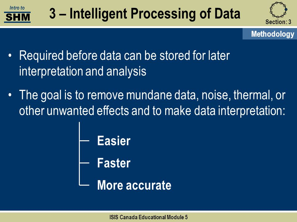 3 – Intelligent Processing of Data ISIS Canada Educational Module 5