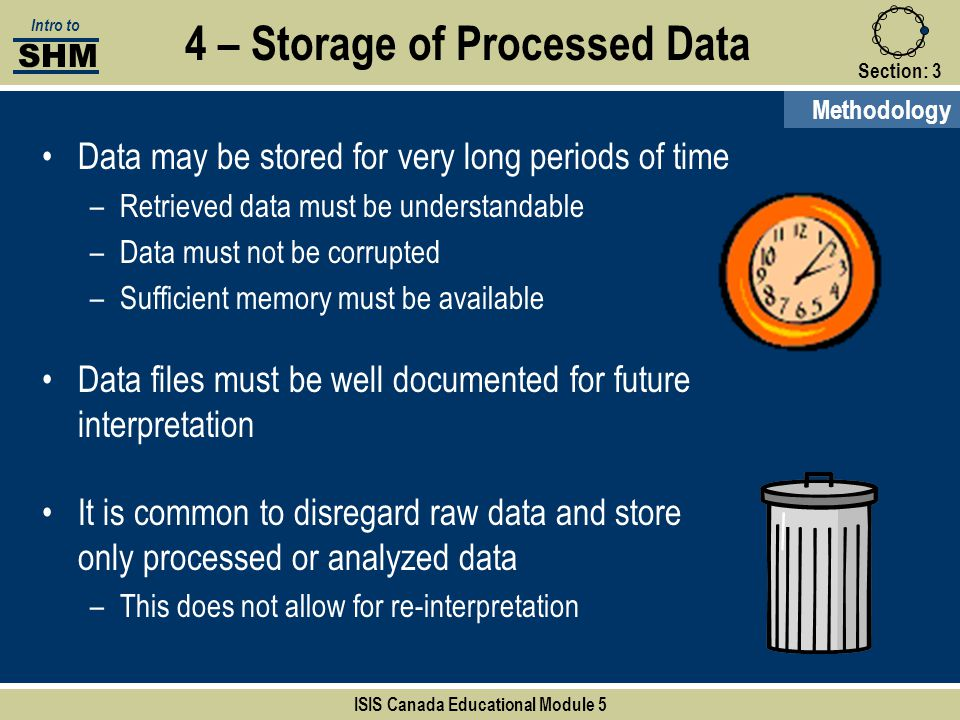 4 – Storage of Processed Data ISIS Canada Educational Module 5