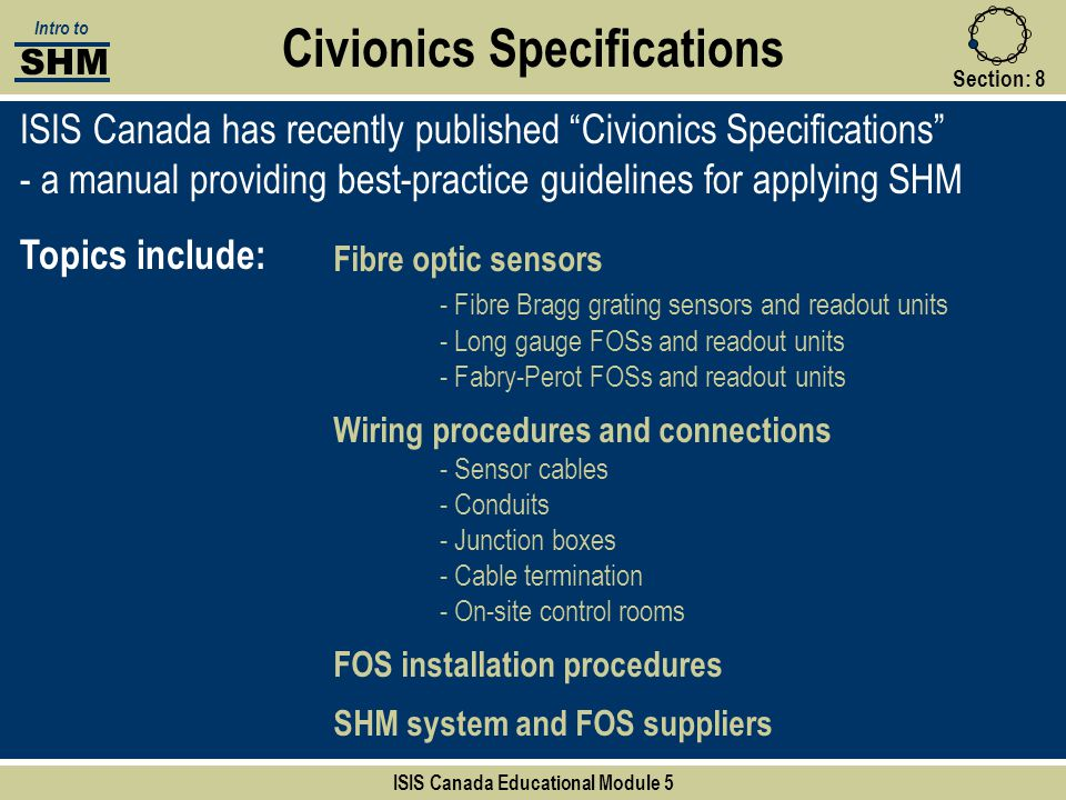 Civionics Specifications ISIS Canada Educational Module 5