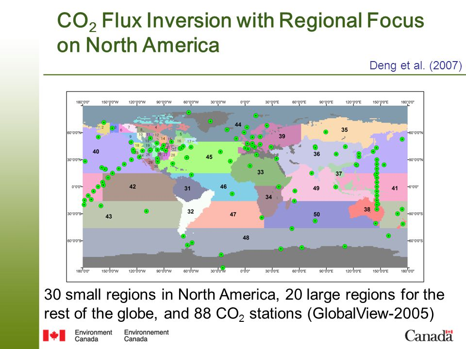 CO2 Flux Inversion with Regional Focus on North America