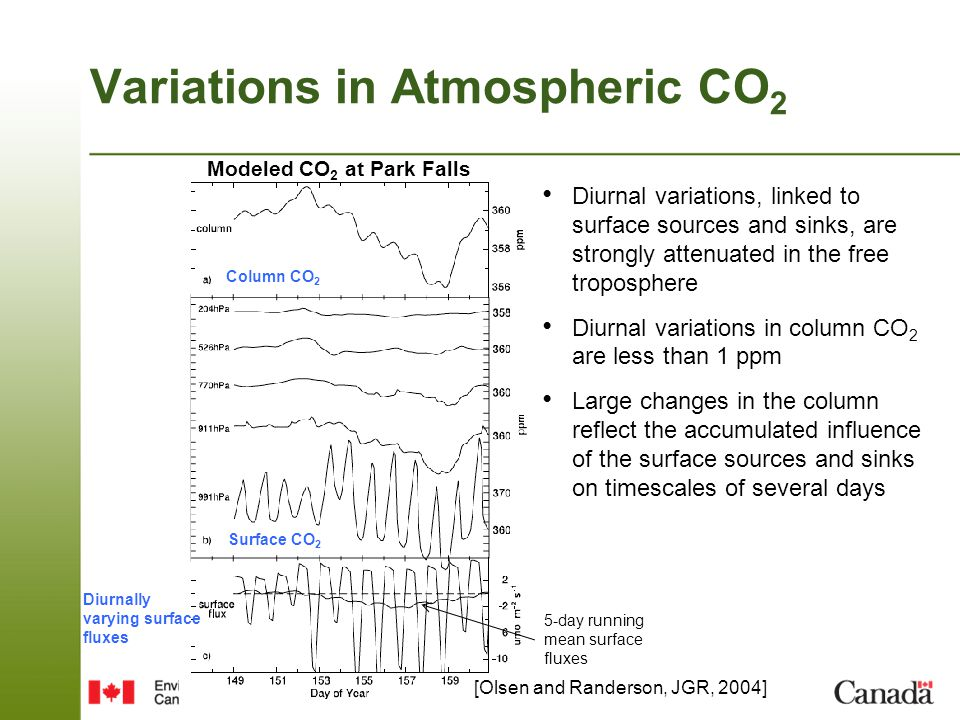 Variations in Atmospheric CO2