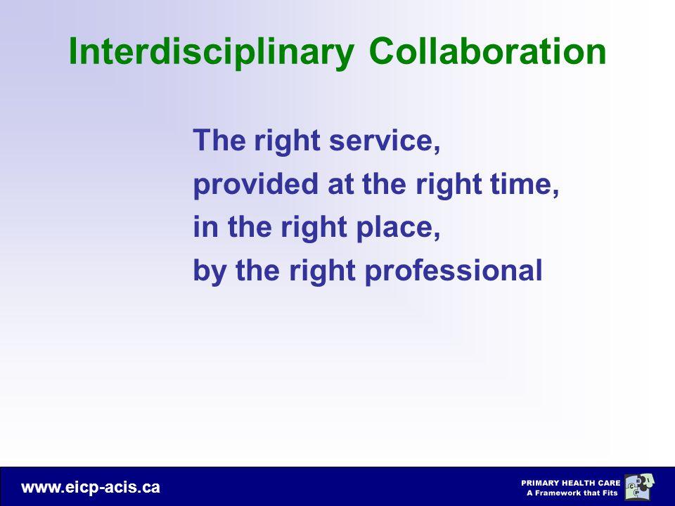 Interdisciplinary Collaboration