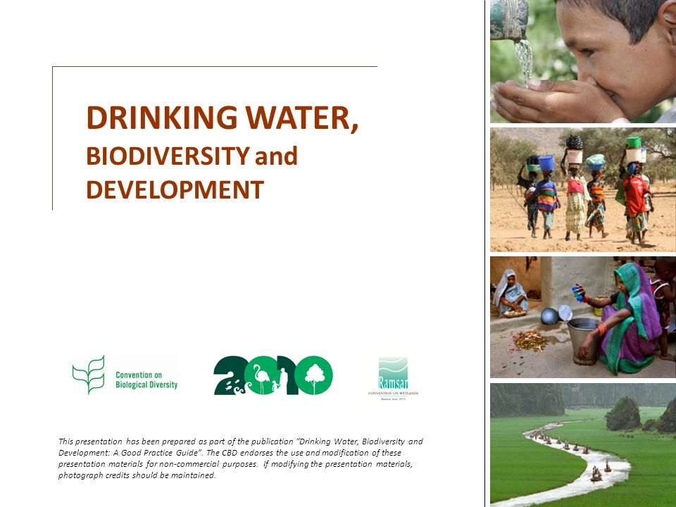 DRINKING WATER, BIODIVERSITY and DEVELOPMENT