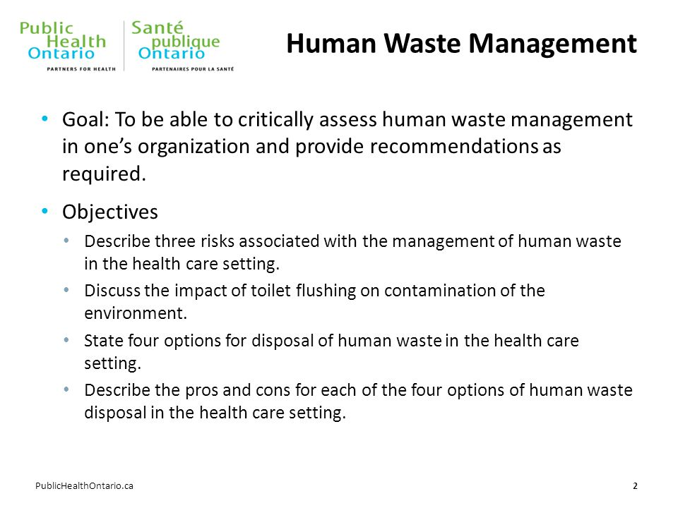 Human Waste Management