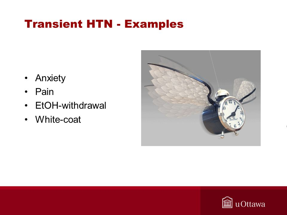 Transient HTN - Examples