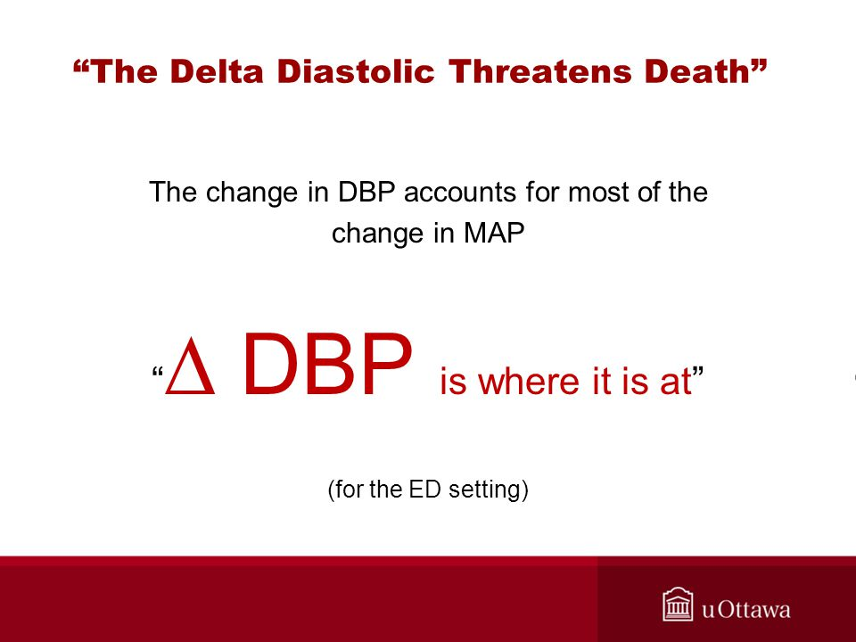 The Delta Diastolic Threatens Death