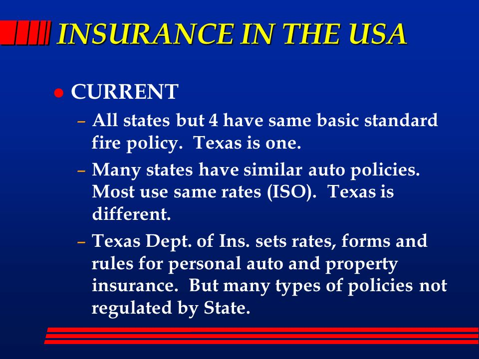INSURANCE IN THE USA CURRENT