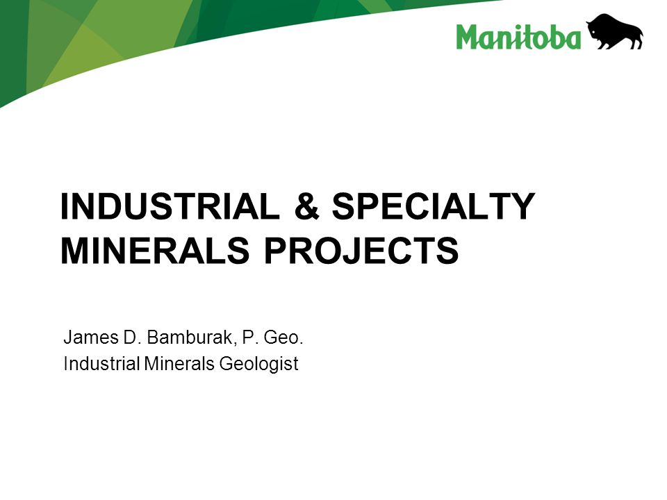 Industrial & Specialty minerals projects