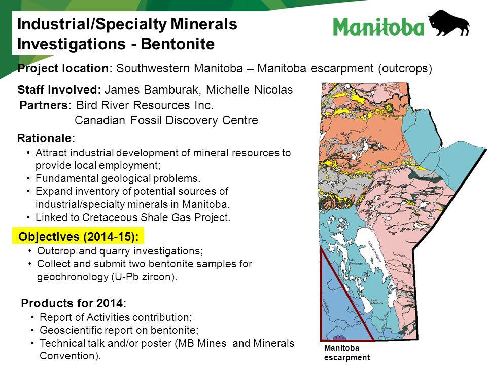 Industrial/Specialty Minerals Investigations - Bentonite