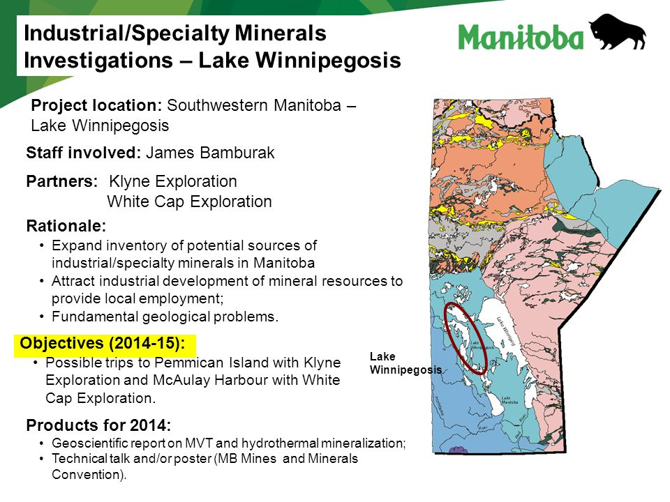 Industrial/Specialty Minerals Investigations – Lake Winnipegosis