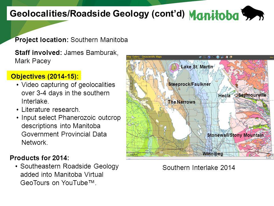 Geolocalities/Roadside Geology (cont'd)