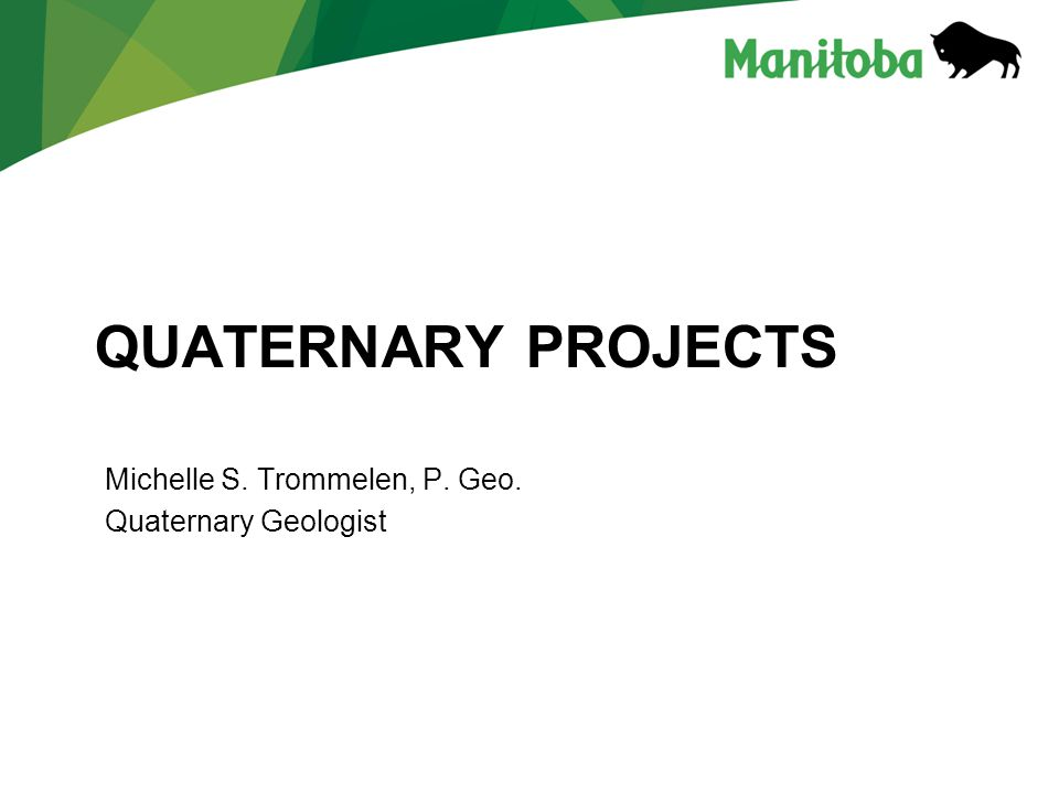 Quaternary projects Michelle S. Trommelen, P. Geo.