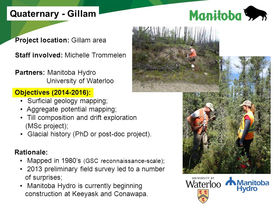 Quaternary - Gillam Project location: Gillam area
