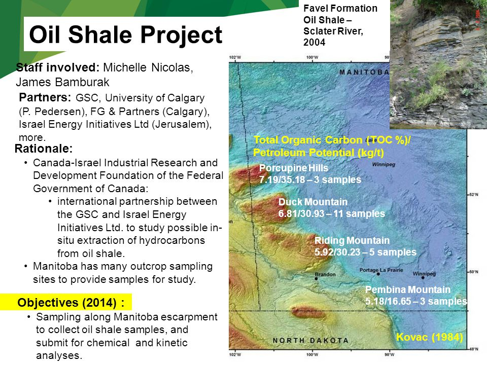 Favel Formation Oil Shale – Sclater River, 2004